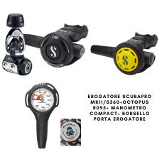 EROGATORE SCUBAPRO MK11/S360+R095+MANOMENTRO + BORSELLO OMAGGIO