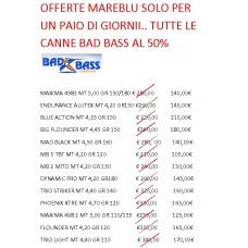 OFFERTA LIMITATA  CANNE BAD BASS AL 50%